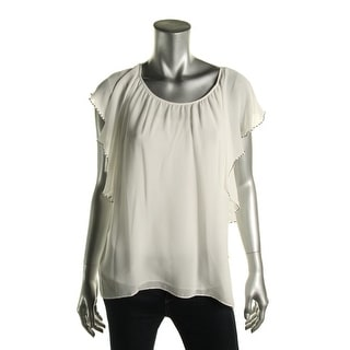 Two by Vince Camuto Womens Chiffon Embellished Blouse - XS