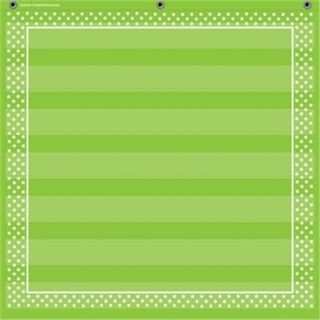 Teacher Created Resources TCR20741 Lime Polka Dots 7 Pocket Chart