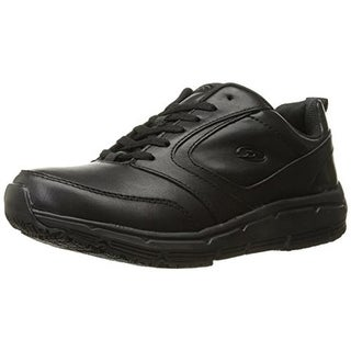 Dr. Scholl's Mens Alpha Leather Slip Resistant Work Shoes - 10 medium (d)