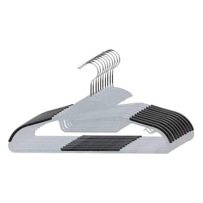 Home Basics Black Plastic Non-Slip Hanger (Pack of 10)