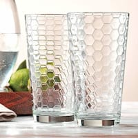 Palais Glassware Ruche Collection Glassware Set Set of 10 17 Oz Highballs, Clear