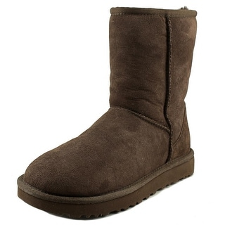 Ugg Australia Classic Short II Women  Round Toe Suede Brown Snow Boot