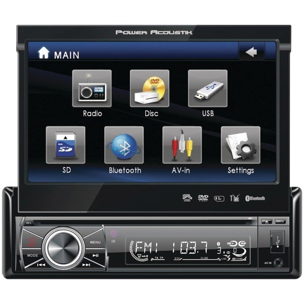 """Power Acoustik Ptid-8920B 7"""" Single-Din In-Dash Motorized Touchscreen Lcd Dvd Receiver With Detachable Face (With Bluetooth(R))"""