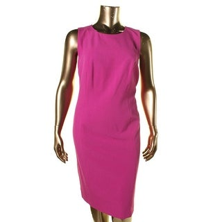 Kasper Womens Plus Sleeveless Sheath Wear to Work Dress