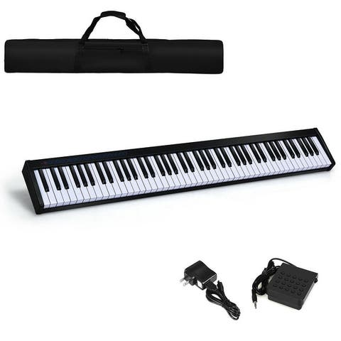 88-Key Portable Electronic Piano with Bluetooth and Voice Function
