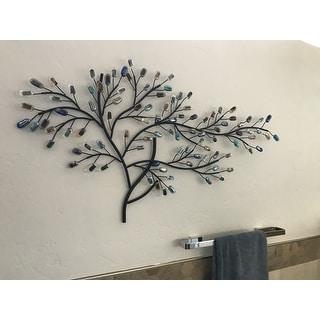Harper Blvd Willow Multicolor Metal/ Glass Tree Wall Sculpture