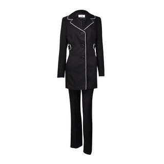 Le Suit Women's Cannes Contrast-Piped Pant Suit (4, Black/Vanilla Ice) - black/vanilla ice|https://ak1.ostkcdn.com/images/products/is/images/direct/f2bdc06ad431b9d3bff81564041446408093f8ac/Le-Suit-Women%27s-Cannes-Contrast-Piped-Pant-Suit-%284%2C-Black-Vanilla-Ice%29.jpg?impolicy=medium