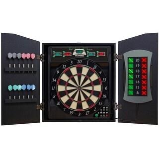 Arachnid Bullshooter E-Bristle Cricketmaxx 5.0 Dartboard Cabinet Set / CMX5000