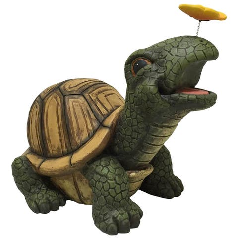 "Design House 328161 13-1/5"" Tall Large Turtle Lawn Decoration - Multicolor"