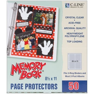"Memory Book Top-Loading Page Protectors 8.5""X11"" 50/Pkg-"