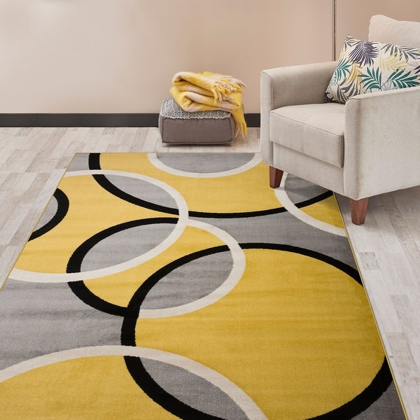 Modern Abstract Circles Area Rug. Opens flyout.