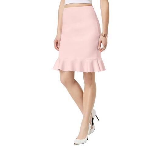 Guess Womens Molly Pencil Skirt Peplum Knee-Length