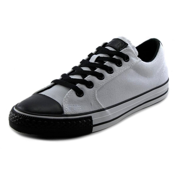 Converse Ox Jasper Youth Round Toe Canvas White Sneakers