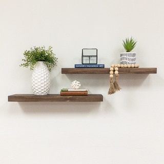 "Del Hutson Designs True Floating Shelves 24"", Set of 2"