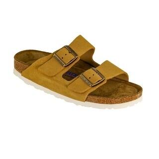 Birkenstock Arizona Soft Footbed Suede Leather Sandals - Sand