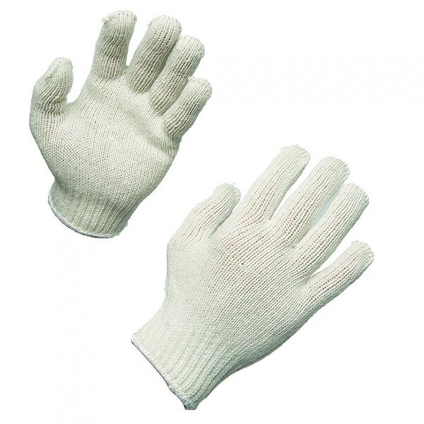 AMMEX SKB Bleached Knit Work Gloves (Bag of 12 pairs)