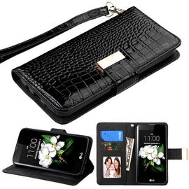 Insten Stand Folio Flip Crocodile Skin Leather Wallet Flap Pouch Case Cover For LG Escape 3/ K7 Tribute 5