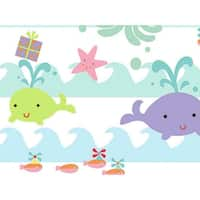 "Pack of 1, Sea Babies Gift Wrap 24"" x 833' Gift Wrap Full Ream Roll for Party, Kids' Birthday, Wedding & Occasion"