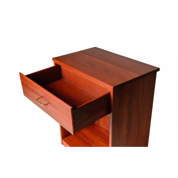 Office Desk Stand Printer Wood Cherry Stain