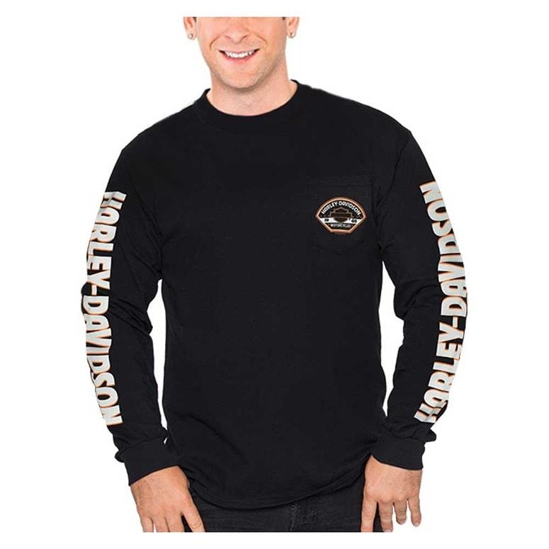 Harley-Davidson Men/'s Black 2XL Mock Turtleneck Long Sleeve shirt