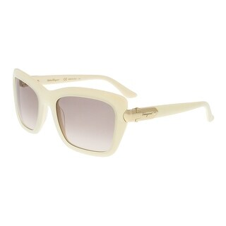 Salvatore Ferragamo SF763/S 105 White Rectangle Sunglasses - 54-20-135