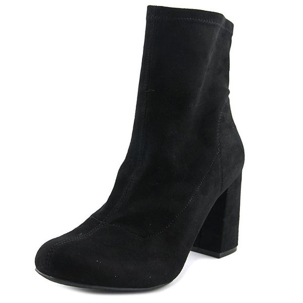 Mia Valencia Round Toe Canvas Mid Calf Boot