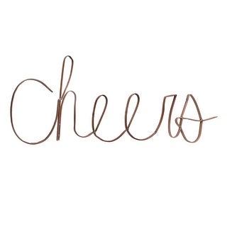 "Iron ""Cheers"" Wall Sign Home Bar Decoration - Recycled Upcycled Scrap Metal Home Decor, 30"" x 11"" - 32 in. x 2 in. x 11 in."