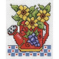 "2.5""X3.5"" 18 Count - Watering Can Counted Cross Stitch Kit"