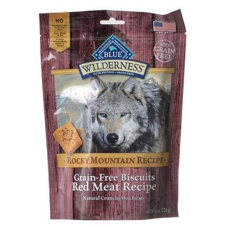 Blue Buffalo Wilderness Grain-Free Rocky Mountain Biscuits Red Meat Recipe 8 oz