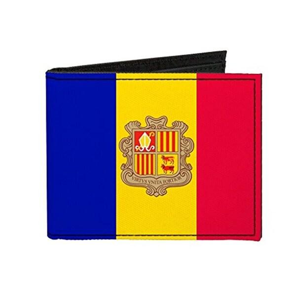 Buckle-Down Canvas Bi-fold Wallet - Andorra Flag Accessory