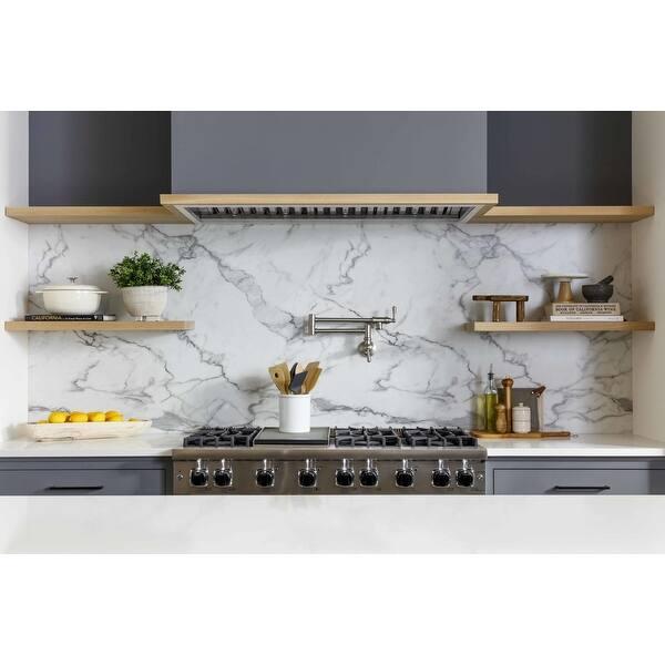 Brushed Gold Moen S665bg Modern Wall Mount Swing Arm Folding Pot Filler Kitchen Faucet Kitchen Bath Fixtures Kitchen Fixtures Emosens Fr
