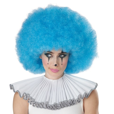 Adult Blue Jumbo Afro Wig for Clown Costume - Standard - One Size