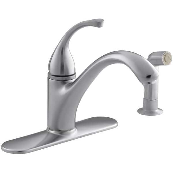 Shop Kohler K 10412 Forte Single Handle Kitchen Faucet With Side