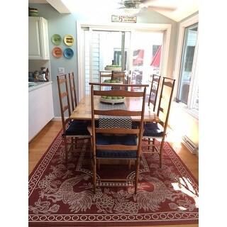 Safavieh Rooster Red/ Natural Indoor/ Outdoor Rug