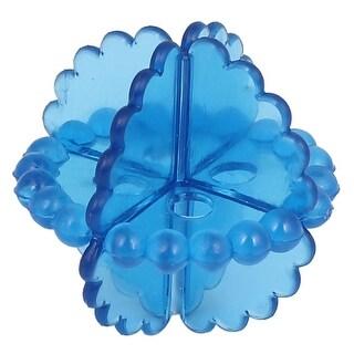 Unique Bargains Soft Reusable Laundry Washing Balls Home Household Wash Helper Dryer Balls Blue