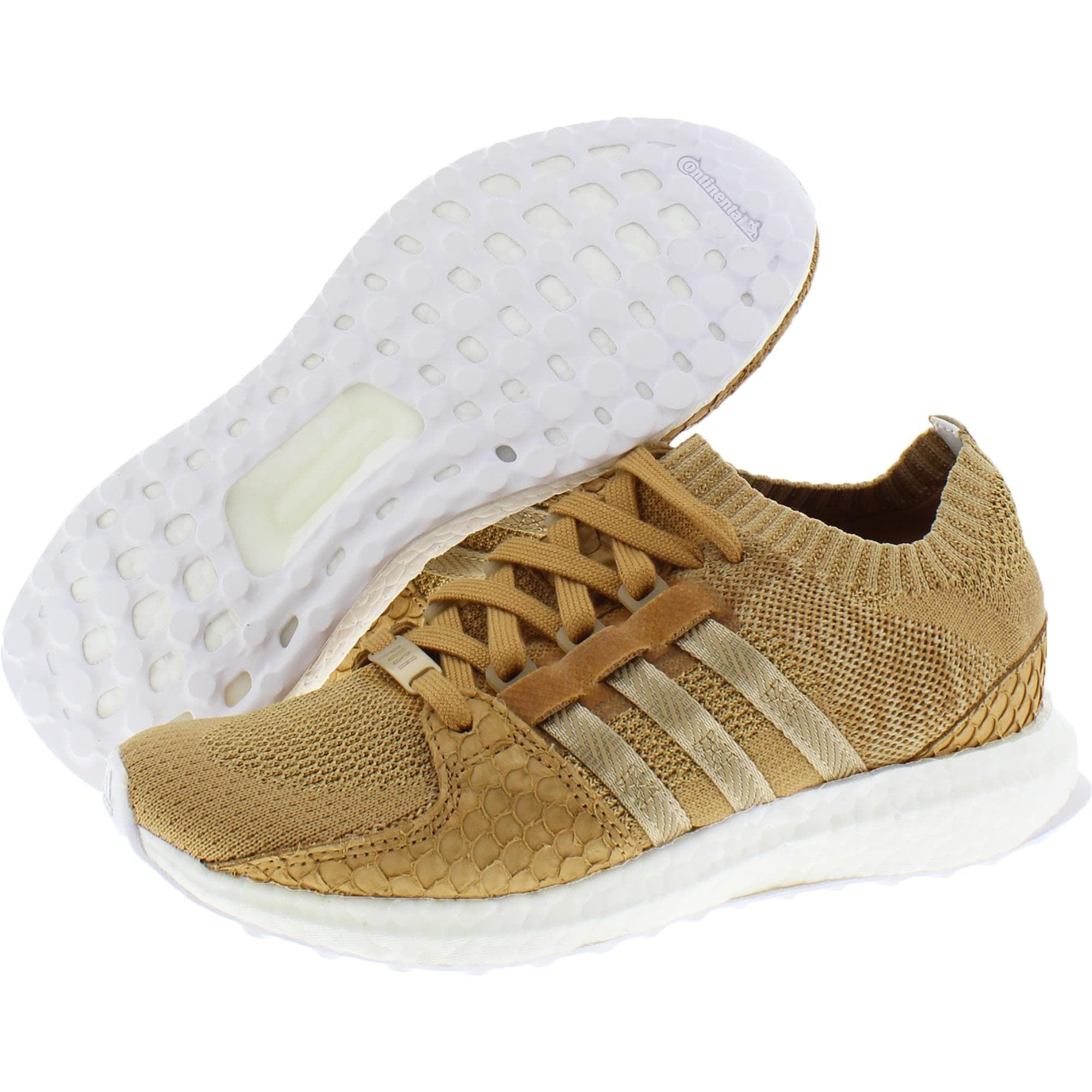Adidas Mens EQT Support Ultra King Running Shoes Knit Track - Brown Paper Bag/White - 5 Medium (D)