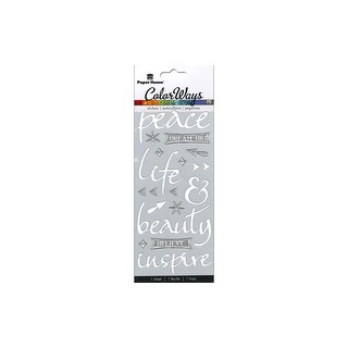 Paper House Sticker Sculpted Peace