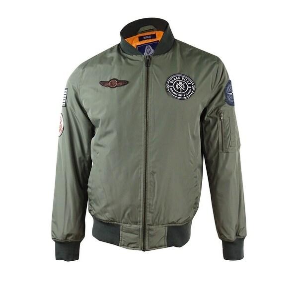 a9d6ea7e8 American Rag Men's Hooded Bomber Jacket (Dusty Olive, M) - dusty olive - M