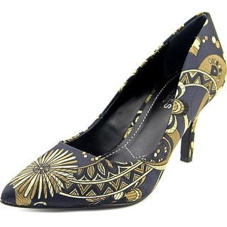 Charles By Charles David Sasha Women  Pointed Toe Canvas Black Heels