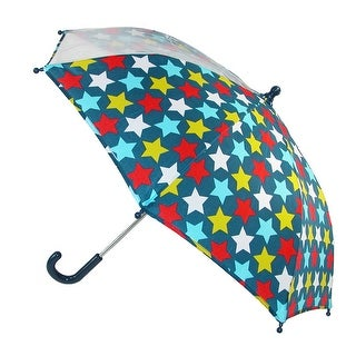 CTM® Kids' Star Print Stick Umbrella with Single Clear Panel - One size