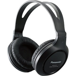 Panasonic Full-Sized Lightweight Long-Cord Headphones - Black (RP-HT161-K)