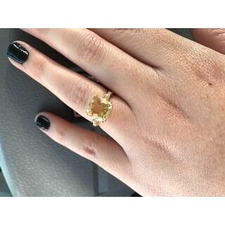 Miadora 10k Yellow Gold Citrine, Sapphire, and Diamond Accent Ring