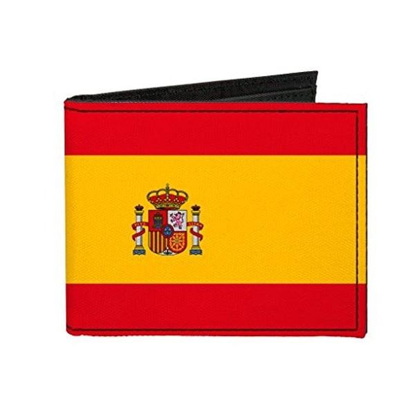 Buckle-Down Canvas Bi-fold Wallet - Spain Flag Accessory