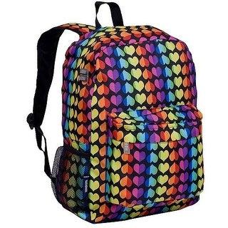 Wildkin Girls Multi Rainbow Hearts Crackerjack Backpack 18in.x 12in.x 5in