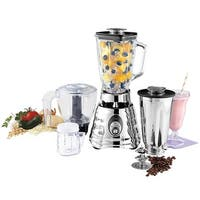 Oster Kitchen Center Beehive Blender - Includes 3-cup BPA-free food processor Jar - Silver - 9 x 16.1 x 14