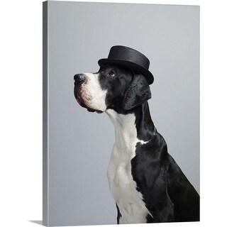"""""""Great Dane wearing a hat"""" Canvas Wall Art"""