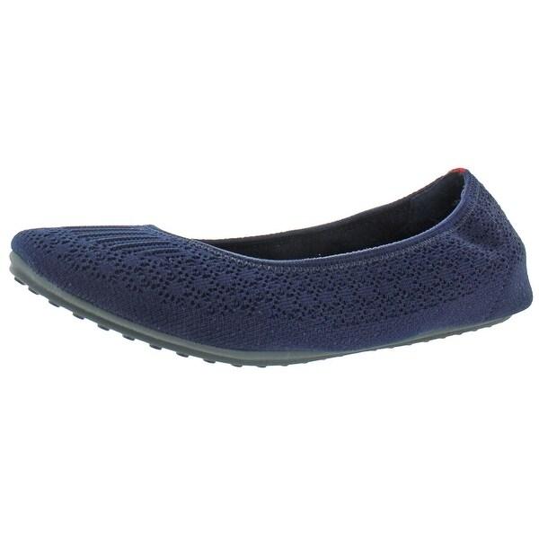 Knit Memory Foam Slip On Ballet Flats