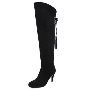 Vince Camuto Cherline Women Round Toe Suede Black Over the Knee Boot|https://ak1.ostkcdn.com/images/products/is/images/direct/f2cc04c3fdbdb3853c27cae16c8928c447644559/Vince-Camuto-Cherline-Women-Round-Toe-Suede-Black-Over-the-Knee-Boot.jpg?_ostk_perf_=percv&impolicy=medium