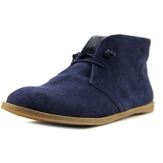 Lucky Brand Ashbee Women Round Toe Leather Blue Chukka Boot