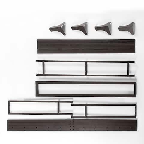 8 Inch Green Tea Memory Foam Mattress and 9 Inch Hinged Metal Platform Bed Frame Set By Crown Comfort